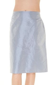2fd07b408c0921 Armani Collezioni Grey Silk Knee Length Skirt, 10, Grey at Amazon Women's  Clothing store: