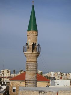 #Minaret from rooftop of boutique hotel, #Akko, #Israel