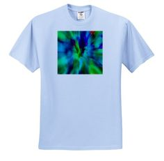 Floral and Tree Abstracts T-Shirts 3dRose Lens Art by Florene Image of Small Pink and Orange Floral Clusters