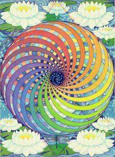 """Esta pintura tiene la intención de transmitir espíritu o fuerza vital. Su nombre """"es"""" KA """", desde el KA de la Mer-Ka-Ba, que significa espíritu."""