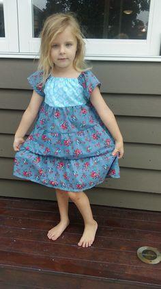 SALE! Flower princess dress Size 4 by LittleLizajade on Etsy