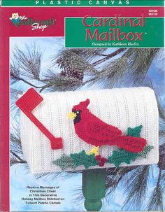 CARDINAL MAILBOX   plastic canvas leaflet by puddinpop on Etsy