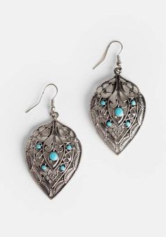 at Threadsence // turquoise silver earrings