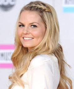 Get Trendy Jennifer Morrison's braids have been known to incite major hair envy in our offices, and this style is no different. Morrison's bangs easily incorporate into her French braid, and the waterfall style lets you wear the look regardless of what stage you're at in the growing-out process.