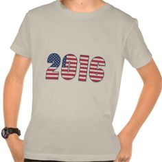 Happy New Year 2016 American Flag Colors USA T-shirt