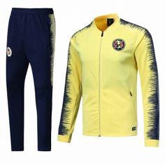 c0994d98c6b 2018-19 Cheap Jacket Uniform Club America Yellow Replica Training Suit  [CFC647] Club