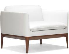 "atlantic lounge chair    Hive Modern   $2313 35.5"" w | 29.75"" d | 28"" h | seat: 17.5"" h | arms: 24.5"" h"