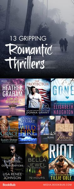 13 gripping romantic thriller books. These books are worth a read if you love novels with twists and suspense!