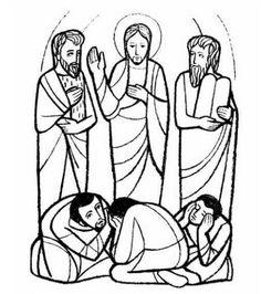 the transfiguration of jesus coloring page - the transfiguration catholic coloring page