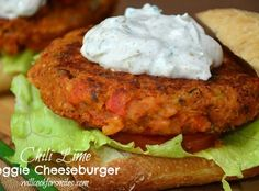 Chili Lime Vegetarian Burger.its not bad being a vegetarian yummy