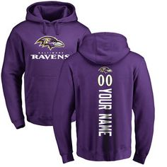 2e8158530e Men s Pro Line Purple Baltimore Ravens Personalized Backer Pullover Hoodie  Baltimore Ravens