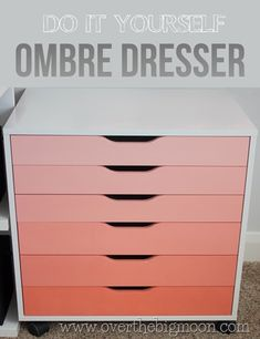 Love this darling DIY Ombre Dresser!