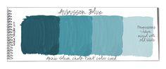 Color Palettes: Color Swatches