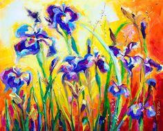 Alpha and Omega - Alaskan Irises Wildflowers; Fine Art Print by Talya Johnson