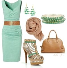 Mint dress outfit idea