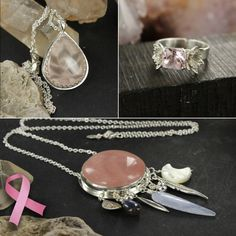 Breast cancer donation jewels