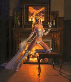 Hellfire Club White Queen Emma Frost by Greg Hildebrandt (2012)