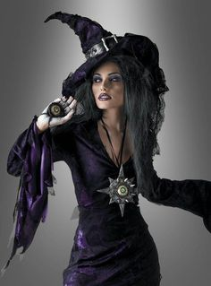 Sorceress Deluxe Witch Costume #costume #deluxe #sorceress #witch Witches Costumes For Women, Witch Costumes, Halloween Costumes, Witch Hats, Halloween Party, Sorceress Costume, Steampunk Witch, Samhain Halloween, Playing Dress Up