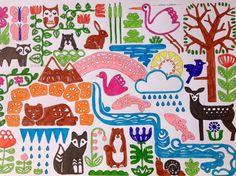 """Así ha coloreado Ángela """"Ya llega la primavera"""" en su versión I (fácil). ¿Te apetece pintar esta ilustración? La tienes en https://chocolateillustration.com/ilustraciones/ya-llega-la-primavera-i/ #chocolateillustration #dibujosparapintar #colorear #yocoloreo #analinea #yallegalaprimavera"""
