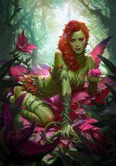 DC Comics Poison Ivy Art Print by Sideshow Collectibles Poison Ivy Comic, Dc Poison Ivy, Poison Ivy Batman, Poison Ivy Dc Comics, Poison Ivy Cosplay, Comic Book Characters, Comic Character, Comic Books Art, Comic Art