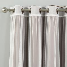 Shop for Aurora Home Mix & Match Blackout Tulle Lace Bronze Grommet 4 Piece Curtain Panel Set. Get free delivery On EVERYTHING* Overstock - Your Online Home Decor Outlet Store! Sheer Curtain Panels, Grommet Curtains, Hanging Curtains, Curtain Sets, Drapes Curtains, Drapery, Corner Curtains, Luxury Curtains, Curtain Styles