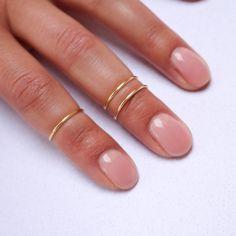 Midi Ring Set in Gold