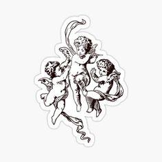 Baby Angel Tattoo, Baby Tattoos, Cute Tattoos, Small Tattoos, Tattoos For Guys, Tattoo Sketches, Tattoo Drawings, Cherub Tattoo Designs, Angel Drawing