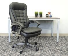 Boss Office Products Black High-Back Executive Chair