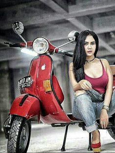 Piaggio Vespa, Lambretta Scooter, Vespa Scooters, Vespa Girl, Scooter Girl, Retro Motorcycle, Motorcycle Design, Biker Chick, Biker Girl