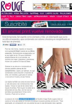Rouge - Perfil.com  Tips para incorporar el animal print en base a tus características.  (Abril de 2012)