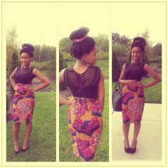 #bun #africanbeauty #africanfashion