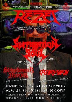 Long Live The Loud 666: REZET WITH: SUFFOCATION SOUL,SLEDGEHAMMER NOSEJOB ...