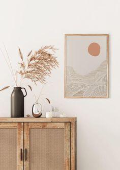 Modern Room Decor, Desert Art, Thing 1, Eco Friendly Paper, Pink Moon, Light Art, Abstract Print, Frames On Wall, Art Images