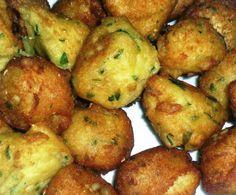 Varomeando: Buñuelos de bacalao My Recipes, Cooking Recipes, Favorite Recipes, Cod Fish, Yummy Food, Tasty, Mediterranean Recipes, Food To Make, Seafood
