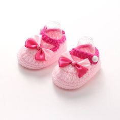 Crochet Baby Shoes Handmade Crocheted Bebe Slippers Infant Toddler Girls Crib Shoes with Flower for Newborn Photo Props #Affiliate