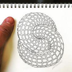 Abstract Art by Matthew Schultz Doodle Art Designs, Doodle Patterns, Zentangle Patterns, Zentangles, Math Design, Symmetry Design, Rose Gold Wallpaper, Art Optical, Reverse Applique