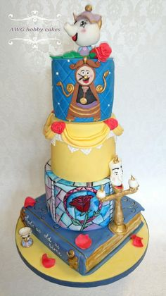 Beauty and Beast for Grace - cake by AWG Hobby Cakes