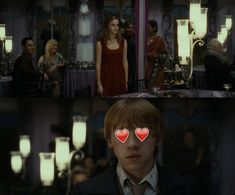 At Bill and Fleur's wedding, Ron could barely take his eyes off Hermione. It was adorable. | For Everyone Who Thinks Hermione Should Have Ended Up With Harry