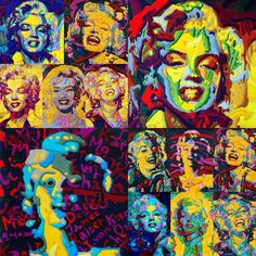 Forever Marilyn #2 Drawings by Werner Horvath