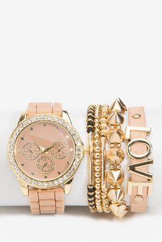 A'GACI |Hard Bling Love Jelly Arm Candy Watch | #agaci