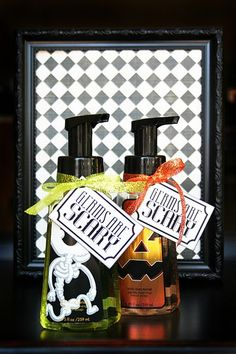 teacher halloween gifts... Germs are scary, soap