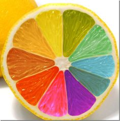 artistic-food-creative-desserts rainbow colored lemon