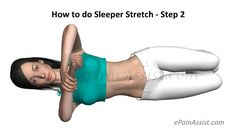 Sleeper Stretch is a shoulder stretch exercise that is done to increase shoulder range of motion and flexibility. Know the benefits, dangers and how to do sleeper stretches. Shoulder Range Of Motion, Wrist Pain, Strong Back, Frozen Shoulder, Stretches, Meditation, Exercise, Yoga, Workout