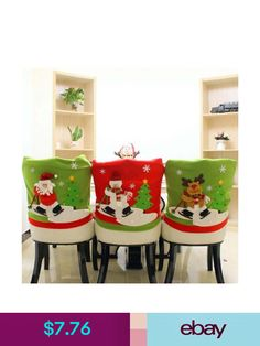 Christmas Santa Clause Chair Covers Red Hat Chair Back Cover natal Dinner Table Party noel navidad Cheap-christmas-ornament chair covers Kitchen Chair Covers, Chair Back Covers, Party Table Decorations, Christmas Party Decorations, Table Party, Dinner Table, Dinner Chairs, Xmas Party, Christmas Chair Covers