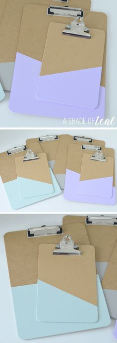 How to make a Clipboard Gallery Wall Tape Painting, Diy Painting, Clipboard Wall, Clipboard Crafts, Doodle, Quick And Easy Crafts, Easy Craft Projects, Craft Ideas, Cute Crafts