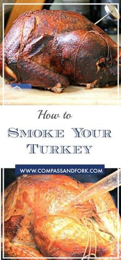 How about cooking your turkey on the smoker this year? Step by step instructions how to smoke your turkey in a smoker and achieve perfect results. Pellet Grill Recipes, Grilling Recipes, Traeger Recipes, Turkey Recipes, Chicken Recipes, Pork Recipes, Recipies, Smoker Cooking, Cooking Beets