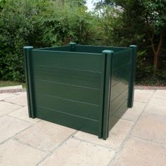 Plastic compost bin, manufactured in the UK by Tekplas. With traditional style upvc compost bins, you have the ability to add on sections to give you any capacity you need.