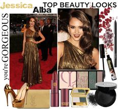 """""""Jessica Alba """"Best Beauty of 2012"""""""" by fantasiegirl ❤ liked on Polyvore"""