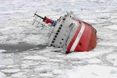A Canadian cruise ship struck submerged ice off Antarctica, but all 154 passengers and crew, Americans and Britons among them, took to lifeboats and were plucked to safety by a passing cruise ship before the ship sank. Abandoned Ships, Abandoned Places, Ghost Ship, Shipwreck, Tall Ships, Water Crafts, Titanic, Sailing Ships, Underwater