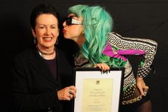 Recognising Lady Gaga's unwavering support for GLBT communities by making her an honorary citizen of Sydney